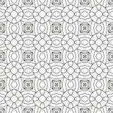 Vintage Seamless Vector Wallpaper. Vector Black White Seamless Wallpaper. Vintage Pattern. Retro Background Stock Illustration