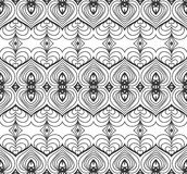 Vintage Seamless Vector Wallpaper. Vector Black White Seamless Wallpaper. Vintage Pattern. Retro Background Royalty Free Stock Photography