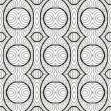Vintage Seamless Vector Wallpaper. Vector Black White Seamless Wallpaper. Vintage Pattern. Retro Background Royalty Free Stock Image