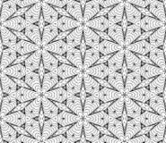Vintage Seamless Vector Wallpaper. Vector Black White Seamless Wallpaper. Vintage Pattern. Retro Background Vector Illustration