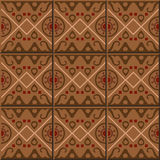 Vintage seamless wall tiles of aboriginal round cross square. Moroccan, Portuguese. Vintage tile patterns can be used for wallpaper, pattern fills, web page royalty free illustration