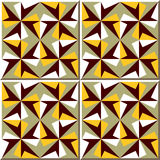 Vintage seamless wall tiles of geometry kaleidoscope. Moroccan, Portuguese. Stock Image
