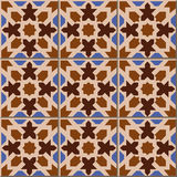 Vintage seamless wall tiles of geometry star shape. Moroccan, Portuguese. Royalty Free Stock Photography