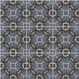 Vintage seamless wall tiles of grey tone polygon geometry star. Moroccan, Portuguese. Royalty Free Stock Image