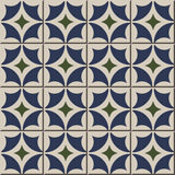 Vintage seamless wall tiles of round diamond geometry. Moroccan, Portuguese. royalty free illustration