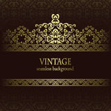 Vintage seamless wallpaper Royalty Free Stock Photos
