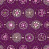 Vintage seamless wallpaper with floral ornament. Ethnic decorative pattern. Background in rustic style. It can be used for wallpaper, pattern fills, web page Stock Photo