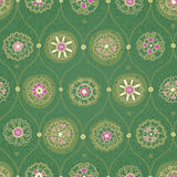 Vintage seamless wallpaper with floral ornament. Stock Image