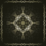 Vintage seamless wallpaper with a frame Royalty Free Stock Photo