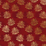 Vintage seamless wallpaper on a red background Stock Photos