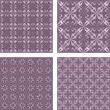 Vintage seamless wallpaper set. Vintage grey seamless pattern wallpaper set Royalty Free Stock Images