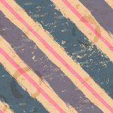 Vintage seamless with watercolor stripes Royalty Free Stock Photo