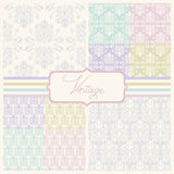 Vintage seamless wedding patterns Stock Photo