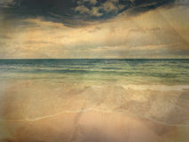 Vintage seascape. Vintage photo of sunny beach Royalty Free Stock Photos