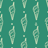 Vintage seashell pattern Stock Photo