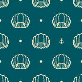 Vintage seashell pattern Royalty Free Stock Image