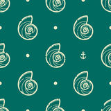 Vintage seashell pattern Stock Images