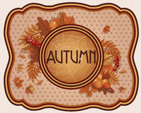 Vintage seasonal autumn card Royalty Free Stock Images