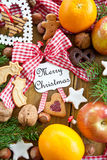 Vintage seasonal greetings Royalty Free Stock Images