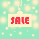Vintage seasonal sale illustration background Stock Photos
