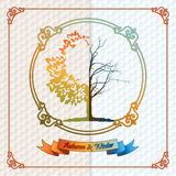 Vintage seasons template with subtle colors change from Autumn to Winter Royalty Free Stock Photos