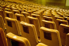 Vintage seats rows. At a concert hall Stock Photography