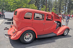 Vintage Sedan. The body is a reproduction of Chevy/Ford/Dodge cars built in the 1930`s. Unlike the originals, this car is powered by a high performance V-8 and stock image