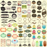 Vintage selling badge for premium quality jumbo collection Stock Photo