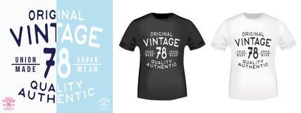 Vintage selo da cópia da camisa de 78 t Fotos de Stock