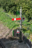 Vintage semaphore signal Stock Images