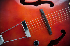 Vintage semi acoustic guitar Royalty Free Stock Photography