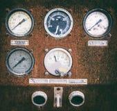 Vintage Sensors control the compressor Stock Photos