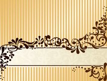 Vintage sepia banner, horizontal Stock Images