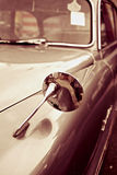 Vintage sepia Car in Close-up Stock Photography