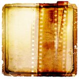 Vintage sepia film strip background on ancient paper. Retro design element. Vintage sepia film strip background on ancient paper Stock Photo