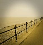 Vintage sepia seaside view Royalty Free Stock Photos