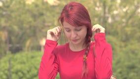 Vintage Sepia Unhappy Teen Girl stock video footage