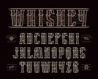Vintage serif font with decoration Stock Photos