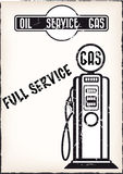 Vintage service poster Stock Image