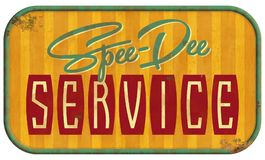 Vintage Service Sign Speedy stock images