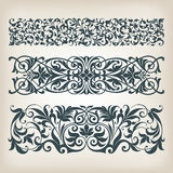 Vintage Set Border Frame Ornate Scroll Calligraphy Vector Royalty Free Stock Photography