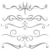 Vintage set and border with swirls Royalty Free Stock Image