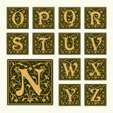 Vintage set capital letters,  Monograms and  font Stock Image