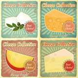 Vintage Set of Cheese Labels Stock Photo