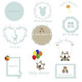Vintage set of children's frames for the boy. Royalty Free Stock Image