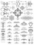 Vintage set decor elements. Elegance old hand drawing set. Ornat Royalty Free Stock Photo