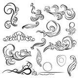 Vintage set decor elements for menu. Elegance old hand drawing s Royalty Free Stock Image