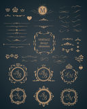 Vintage set of decorative elements Stock Photo
