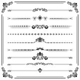 Vintage Set of ector Horizontal Elements. Vintage set of vector decorative elements. Horizontal separators in the frame. Collection of different ornaments Stock Images
