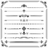 Vintage Set of ector Horizontal Elements. Vintage set of vector decorative elements. Horizontal separators in the frame. Collection of different ornaments Royalty Free Stock Images